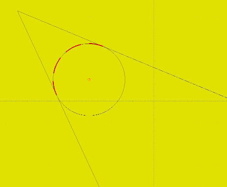 How to add radius circle tangent to two lines